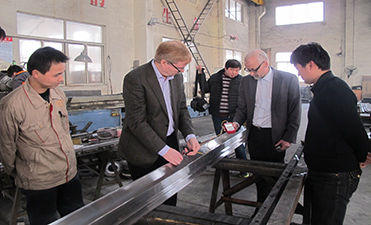 Finland customer were inspecting the press brake tools hardness